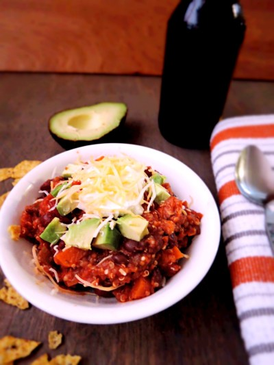 quinoa vegetarian chili #glutenfree #vegan #dairyfree