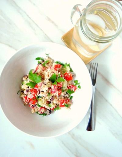 mediterranean quinoa salad #vegetarian #glutenfree