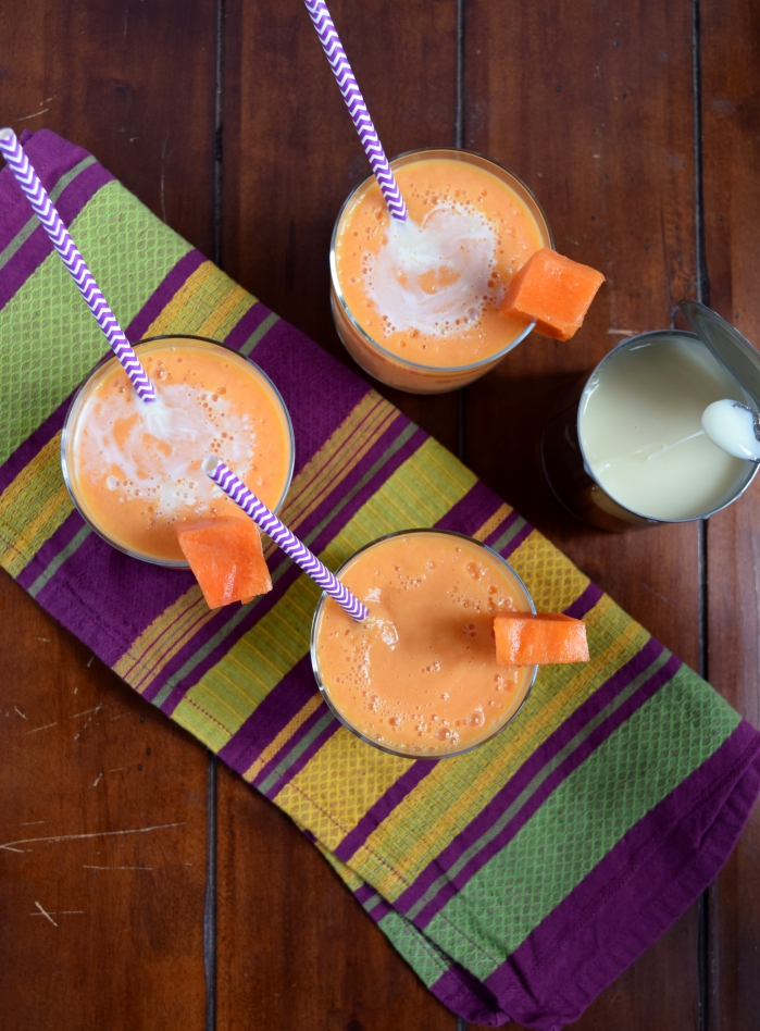 papaya smoothie or merengada.5
