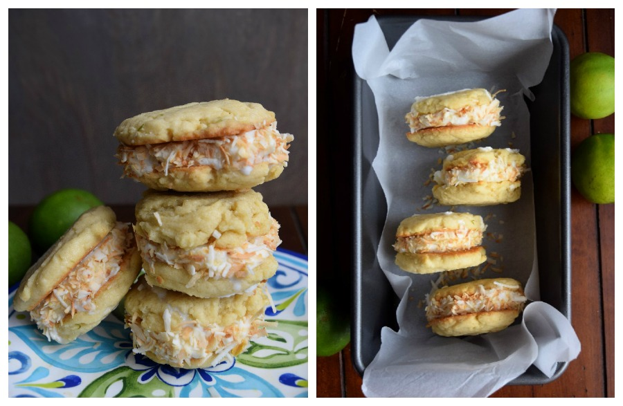 lime coconut ice cream cookie sandwiches.10