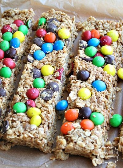 M&M Granola Bars