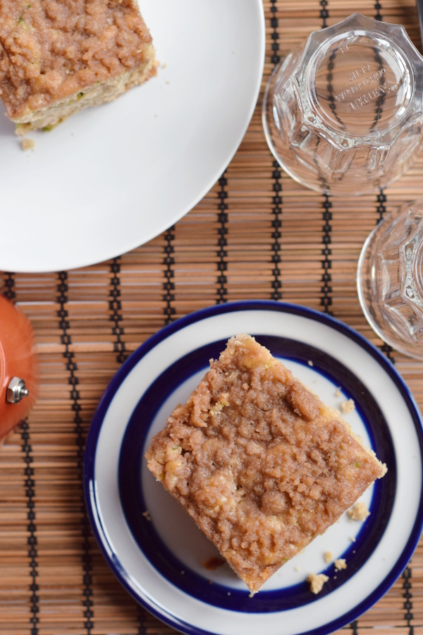 cinnamon zucchini coffee cake #easy #lowsugar