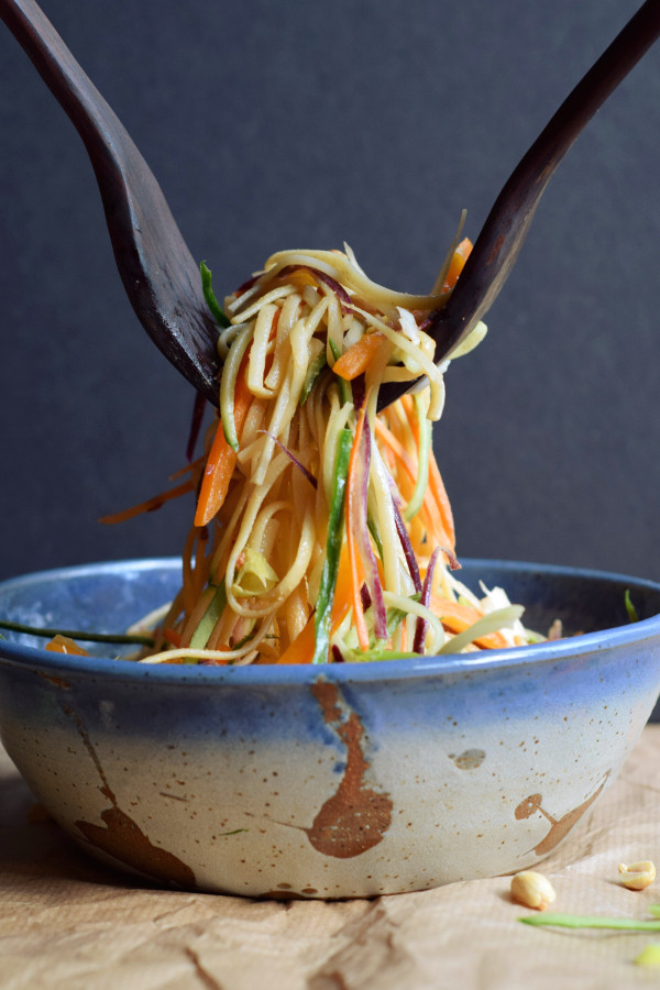 Easy cold peanut noodles with vegetables #vegan #glutenfree #dairyfree