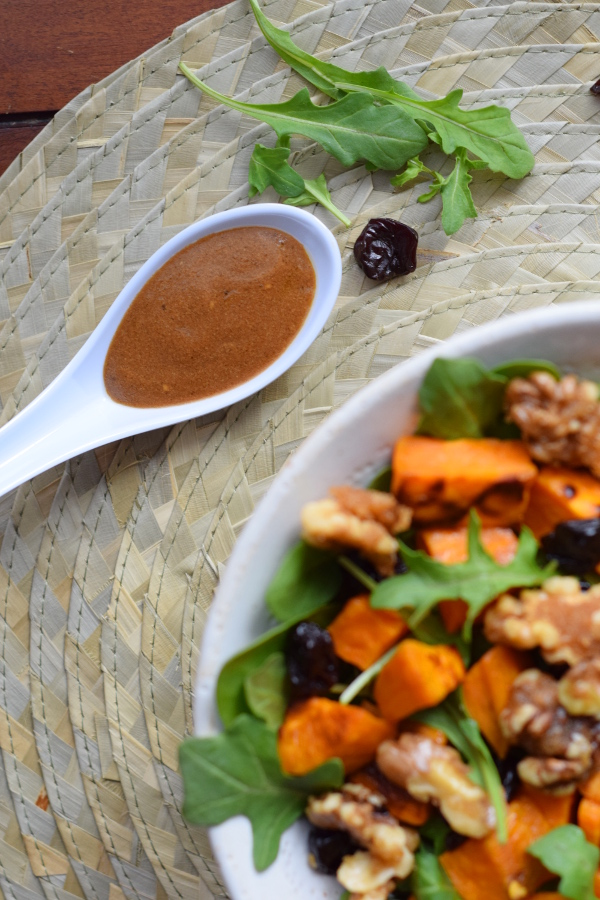 Winter Sweet Potato Salad with Candied Walnuts
