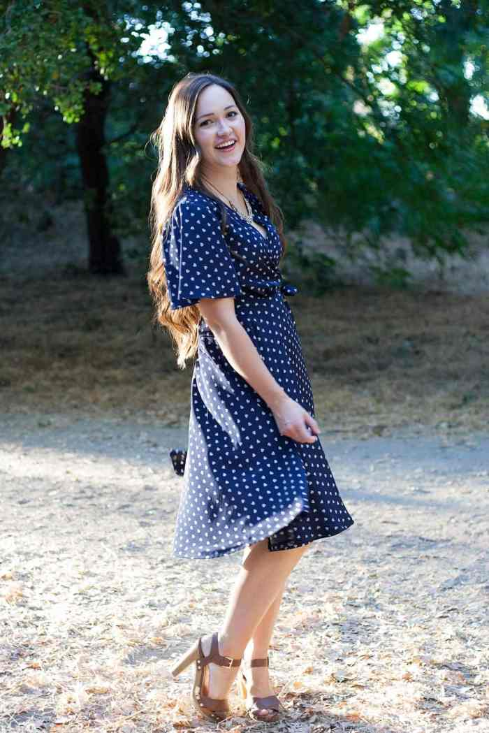 The Pippa Wrap Dress PDF Sewing Pattern from Designer Stitch