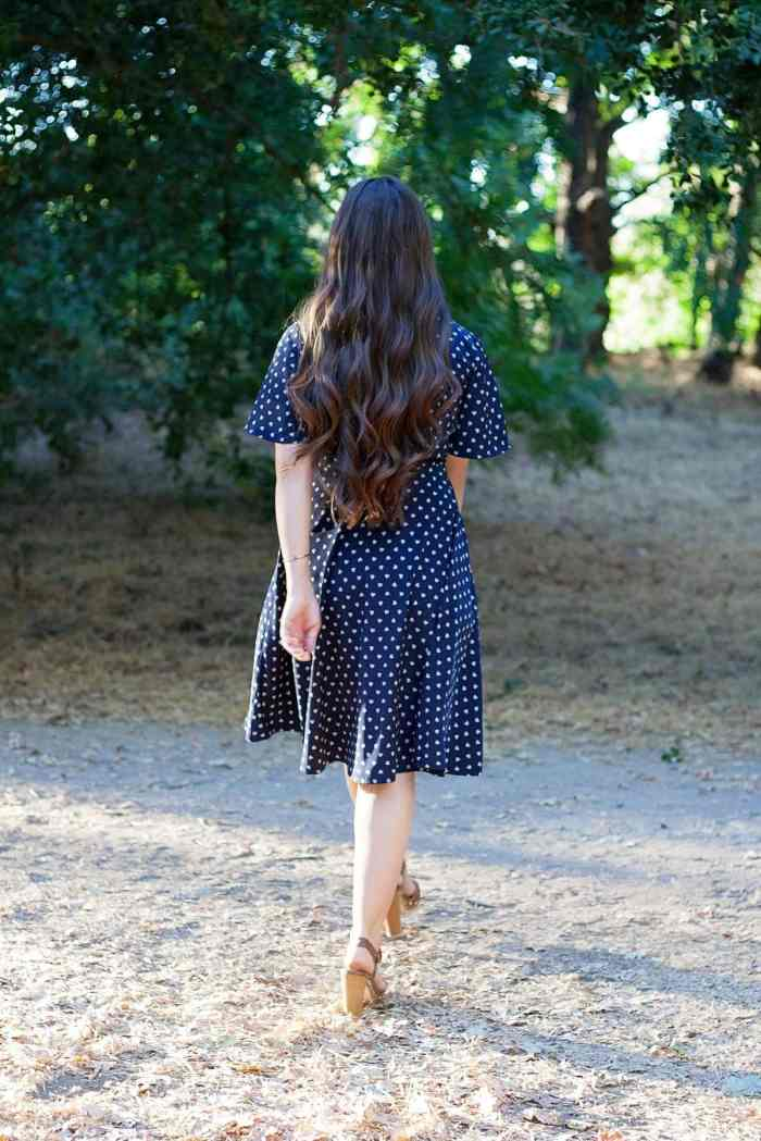 Back view of The Pippa Wrap Dress PDF Sewing Pattern from Designer Stitch