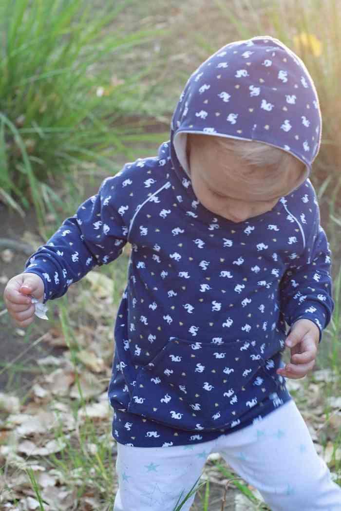 Sarah Jane Magic Knit Brindille and Twig Hoodie PDF Sewing Pattern