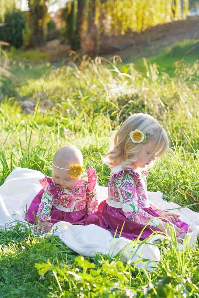 Isla Knit Dress Girls PDF Sewing Pattern