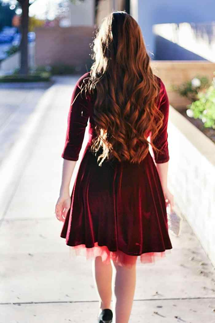 Back view of Davina Dress Itch to Stitch