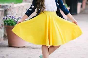 Sweet Red Poppy Circle Skirt Sewing Tutorial