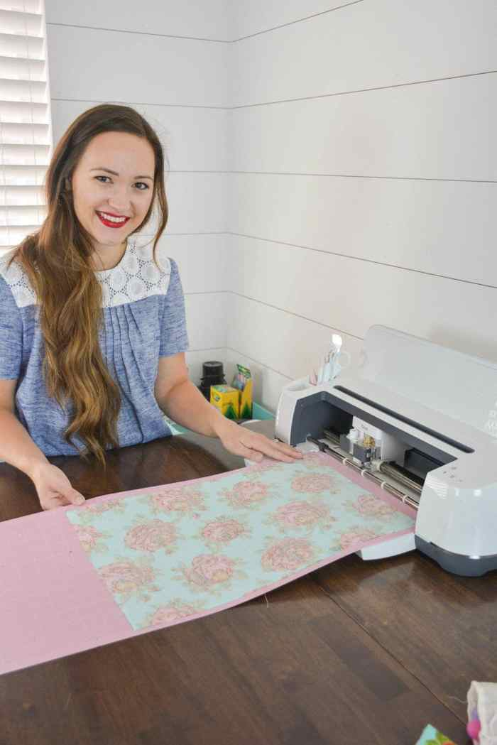 The Cricut Maker Machine cuts fabric