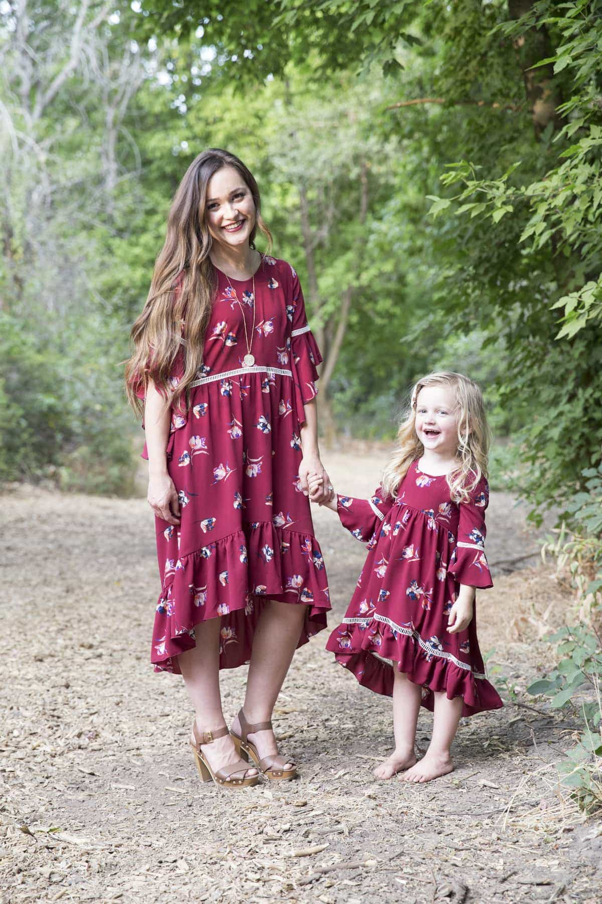 Stylish Fabrics Patricia Dress - Sweet Red Poppy
