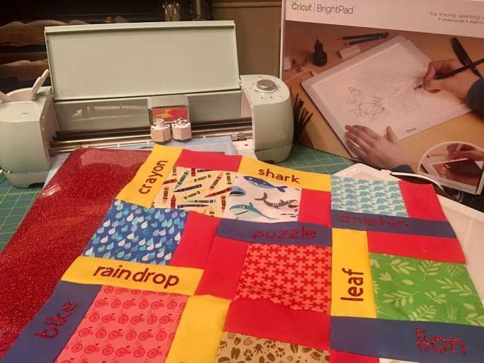 Stitches Quilting Cricut I-Spy quilt