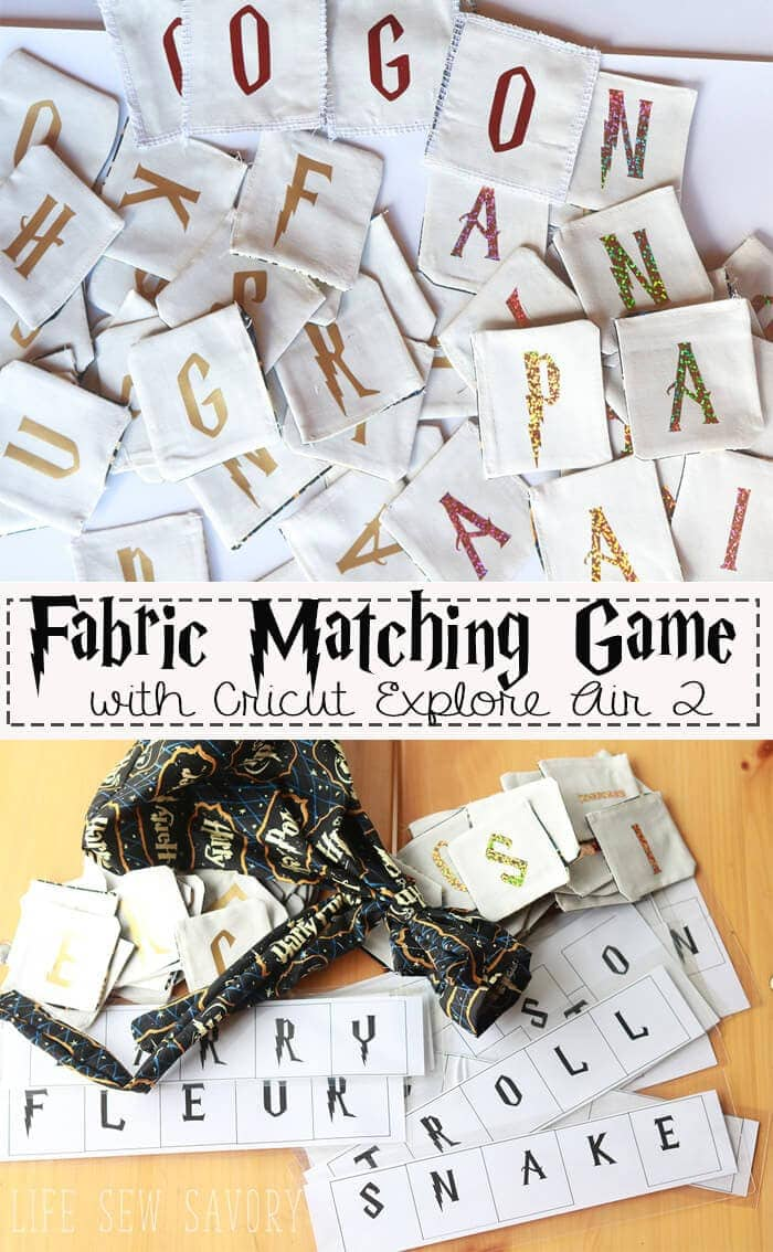 Life Sew Savory Harry Potter Matching Game Cricut HTV