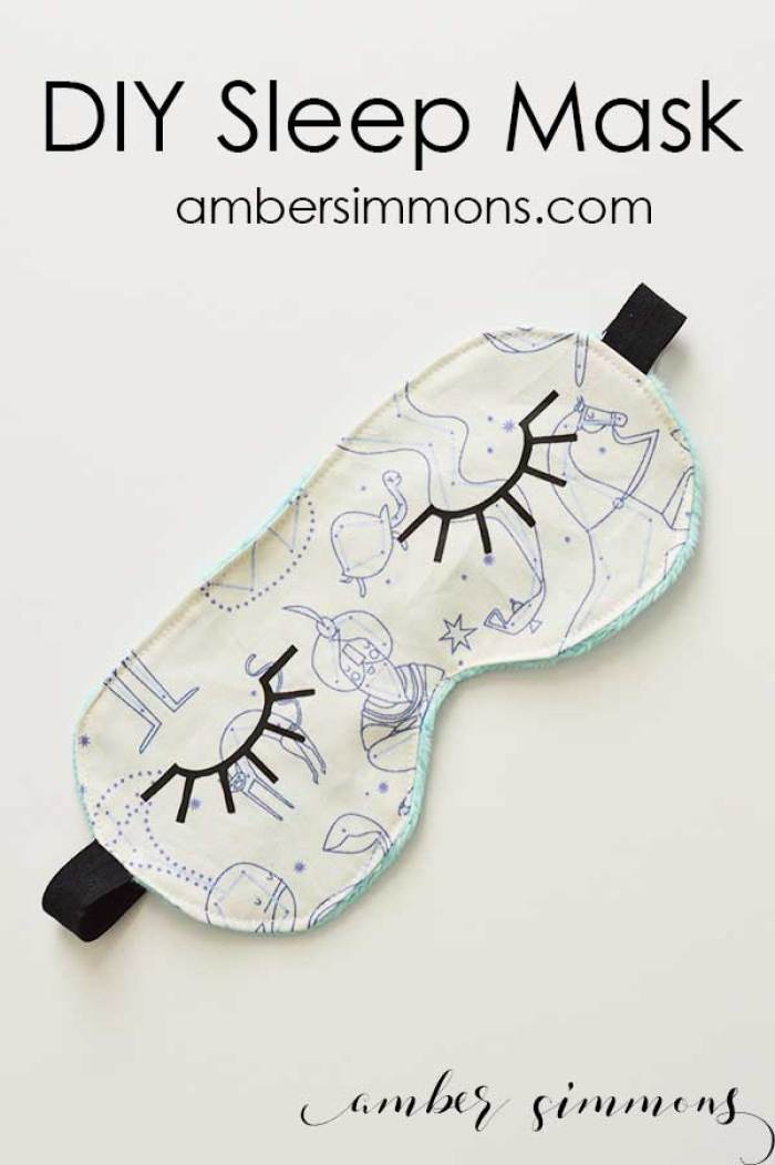Amber Simmons DIY Sleep Mask Tutorial Cricut HTV