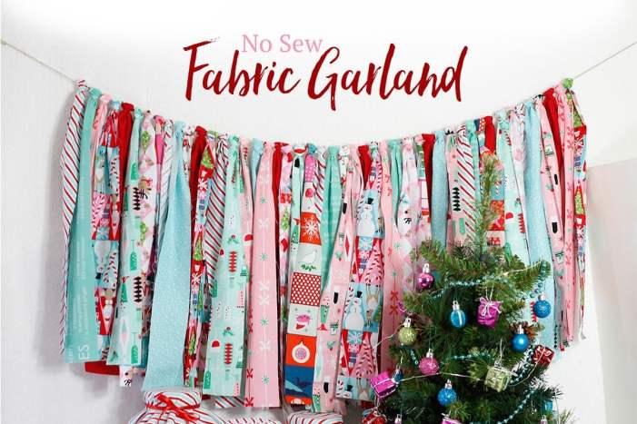 Fabric.com No Sew Fabric Garland