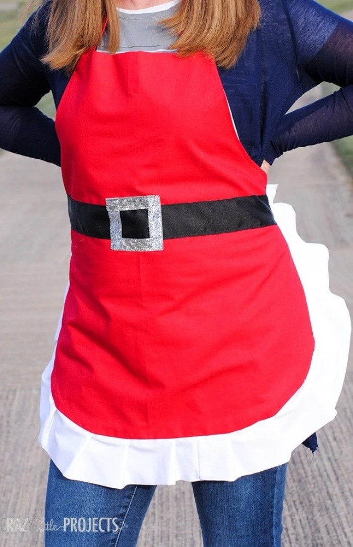 Crazy Little Projects Santa Apron Sewing Tutorial