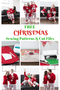 Christmas PJ DIY Tutorial Free PDF Sewing Pattern & Cut File.