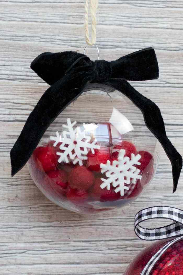 Mod Podge Clear Plastic Christmas Ornament Felt Ball Tutorial
