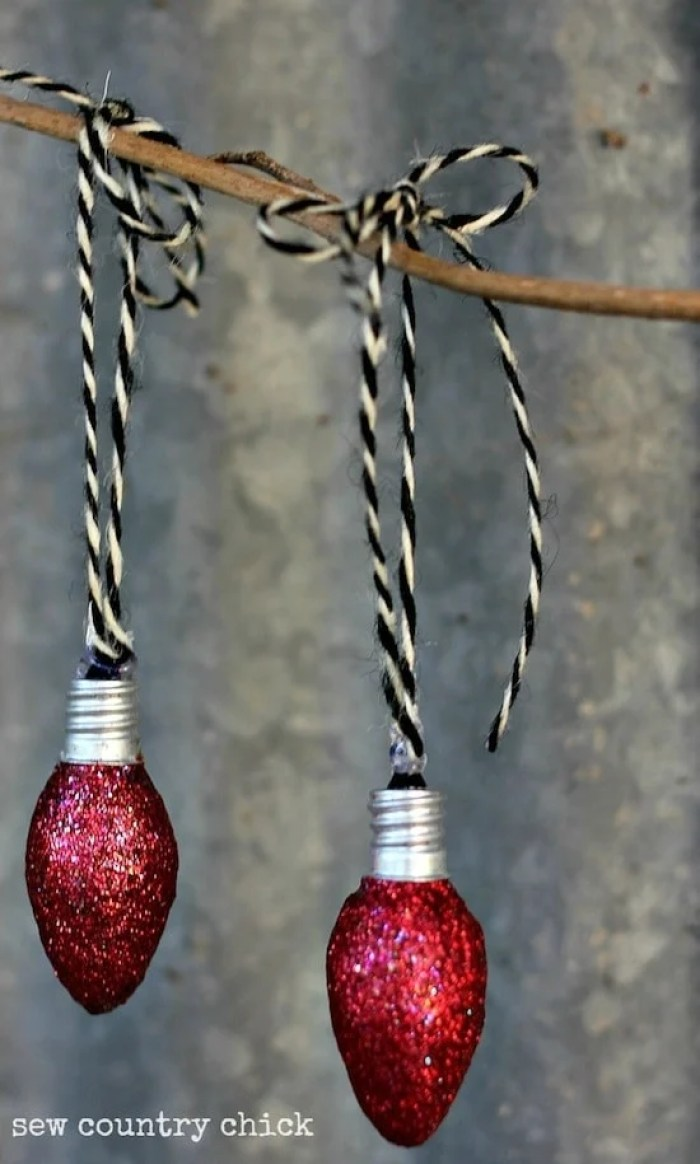 Mod Podge Rocks Blog Night Light Bulb Christmas Ornaments
