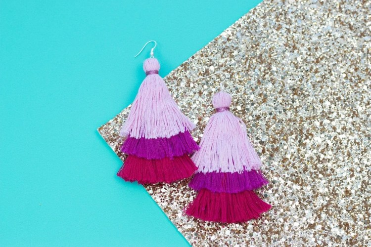 35503652efe109 DIY Layered Tassel Earrings - Sweet Red Poppy