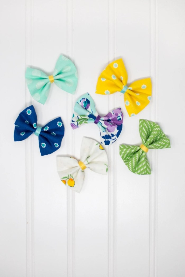 Girls No Sew Hair Bow Fabric Tutorial