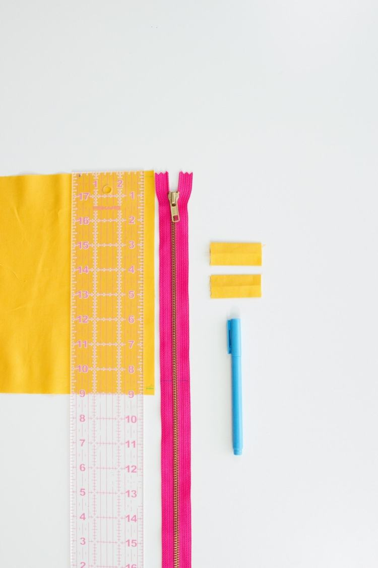 Lined zippered pouch tutorial