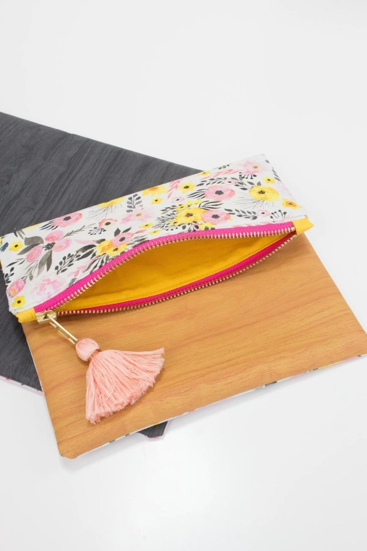 Learn how to sew a lined zippered pouch with this sewing tutorial