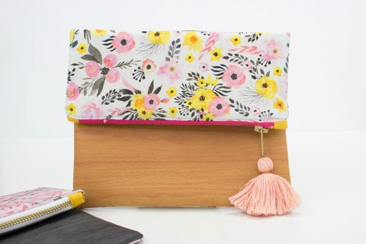 Foldover Leather Pouch Sewing Tutorial and Free Pattern