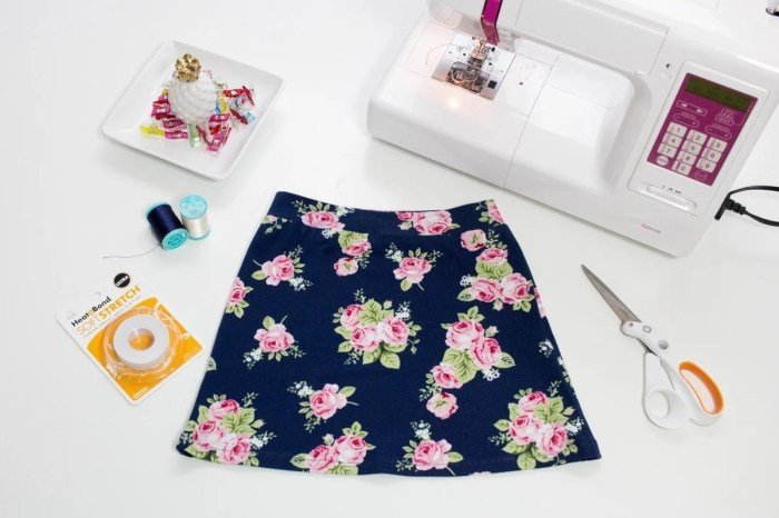 How To Sew A Knit Skirt Sweet Red Poppy