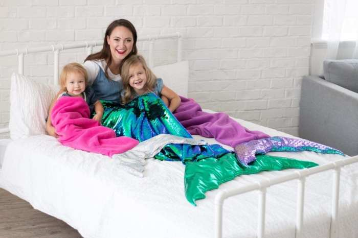 Mermaid Tail Blanket Sewing Pattern