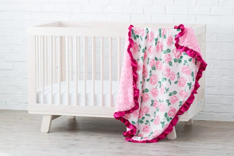 Ruffled Baby Blanket Sewing Tutorial for Beginners Learn to Sew with Minky Fabric