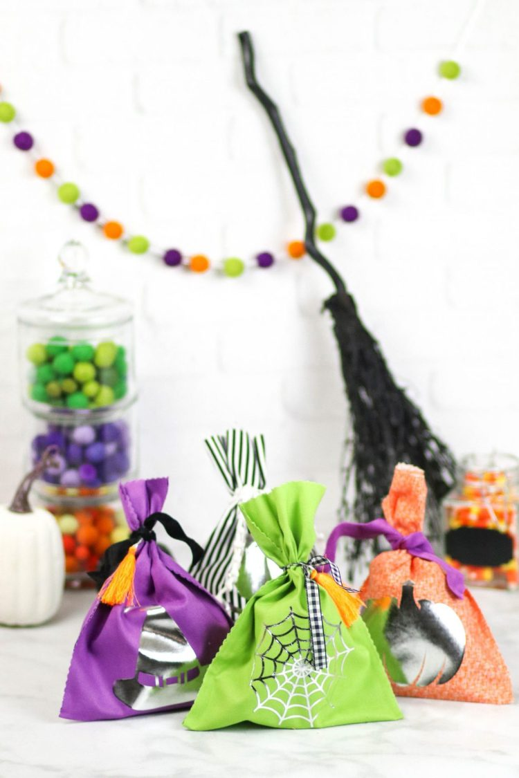 diy no-sew halloween treat bags - sweet red poppy