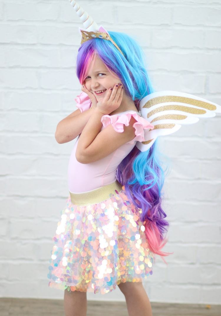 Princess Celestia Unicorn No-Sew Halloween Costume Tutorial Cricut Maker