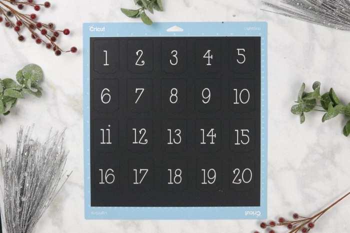 Christmas Advent Calendar Cricut Maker