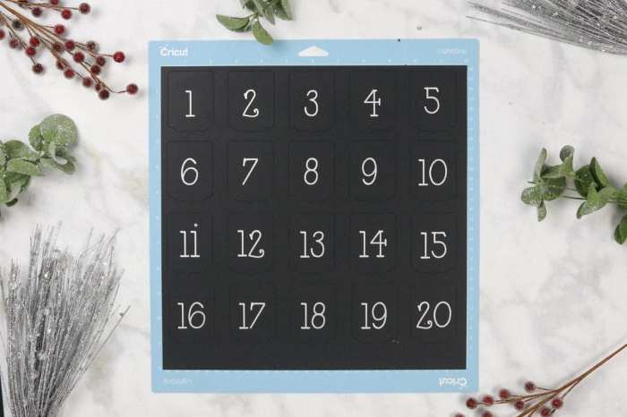 Christmas Advent Calendar Cricut Maker
