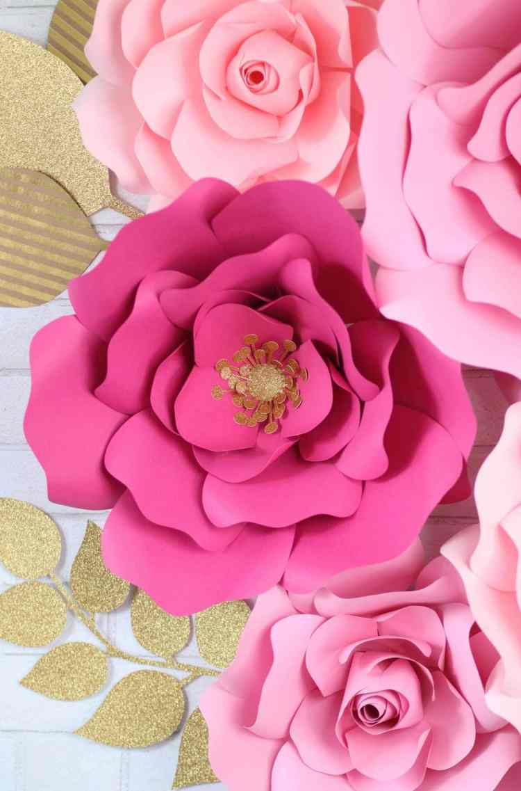 How To Make Large Paper Flowers By Hand Or With A Cricut Sweet Red