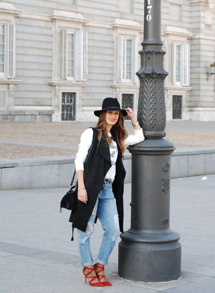 SweeTrendy sombrero negro
