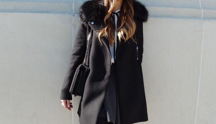 Abrigo negro SweeTrendy
