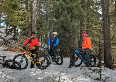 FAT BIKE THE COMMUNITY TRAIL FROM BLAIRMORE TO COLEMAN RETURN