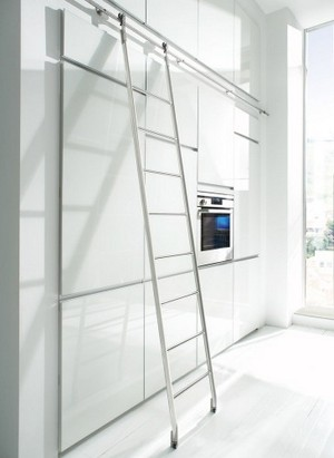 Stainless Steel Rolling Library Ladders Specialty