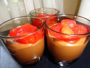 If you want, you can add some fresh fruits, some syrup, or, as i did, some delicious home-made light sugar strawberry jam