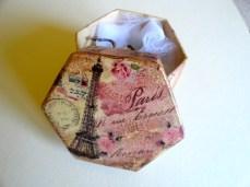 Handmade decoupage jewelry box