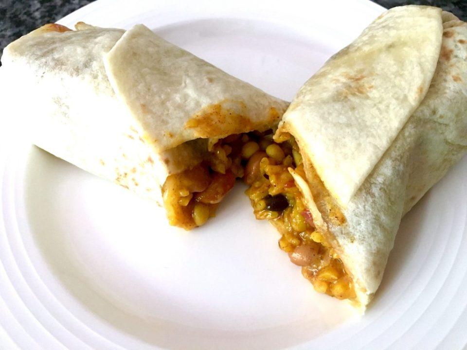 cooked burrito