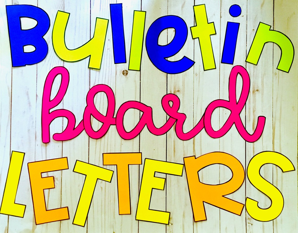 Fancying Up Your Bulletin Board Letters Within Bulletin Board Template Word