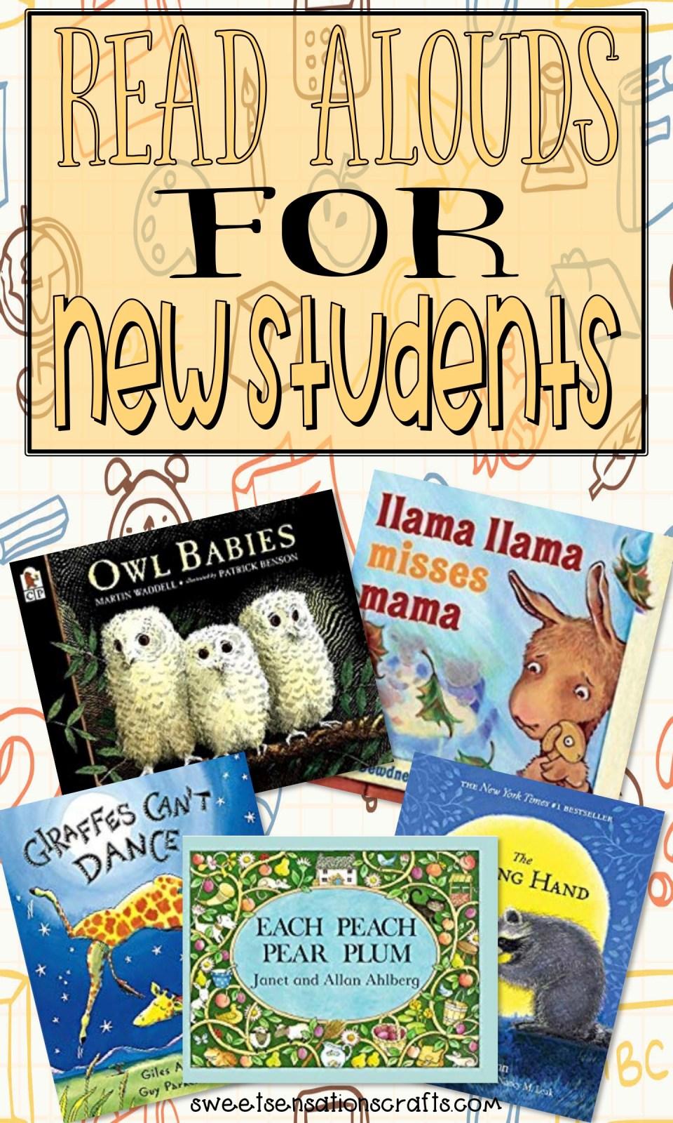 Read alouds for beginning kindergarten