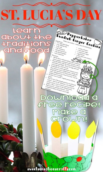 Learn about the customs and traditions surrounding St. Lucia's day, celebrated in Sweden and Norway on December 13.  Download a free pepparkakor recipe - click here to learn more.