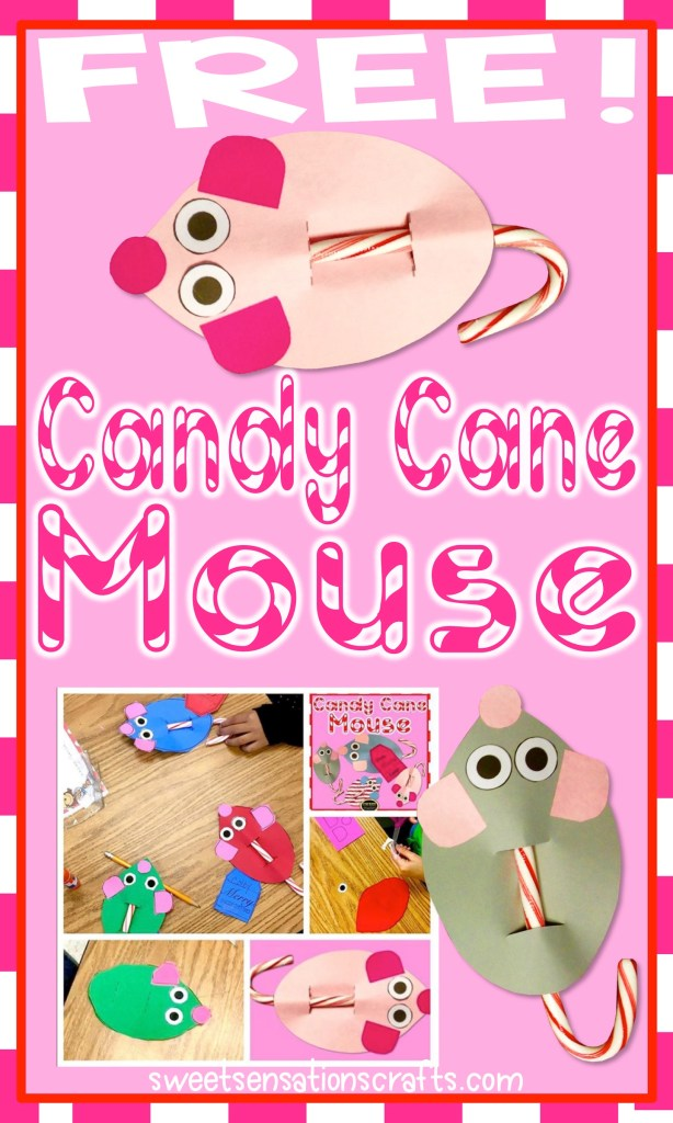 These FREE Christmas candy cane mice are the perfect craft to end the school year!  All you need to provide are the candy canes.  Templates and directions are free!  Learn more here!