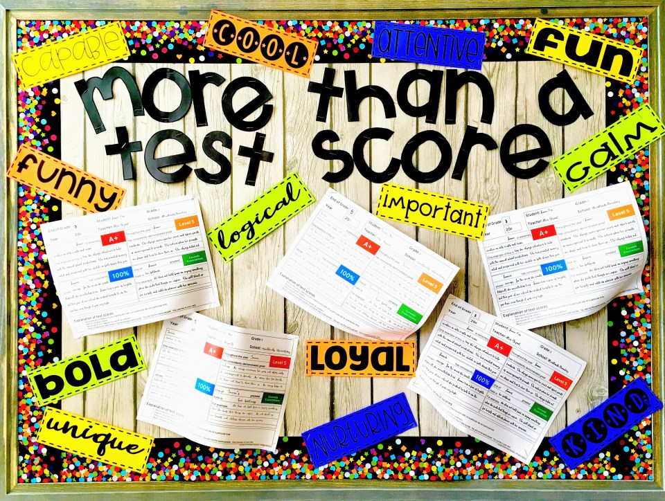 More than a test score bulletin board
