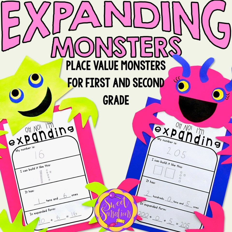 Place Value Monster Understanding Place Value Craft Activity